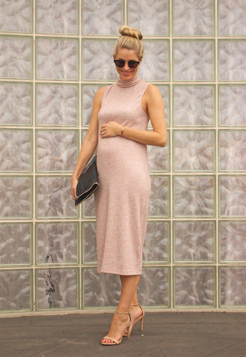 blush shift dress