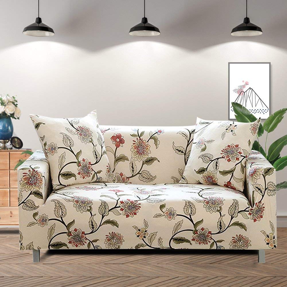 Sofa Slipcovers Lamberia Printed Sofa Cover Stretch Couch Cover Sofa Slipcovers For 3 Cushion Couch With One Pillow Case 3 Seater New Blooming Flower