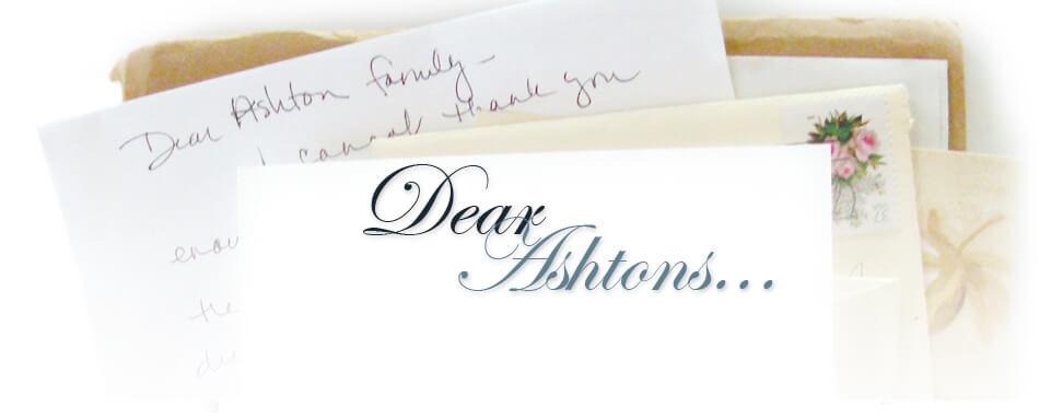 Dear Ashtons Thank You Notes  Testimonials