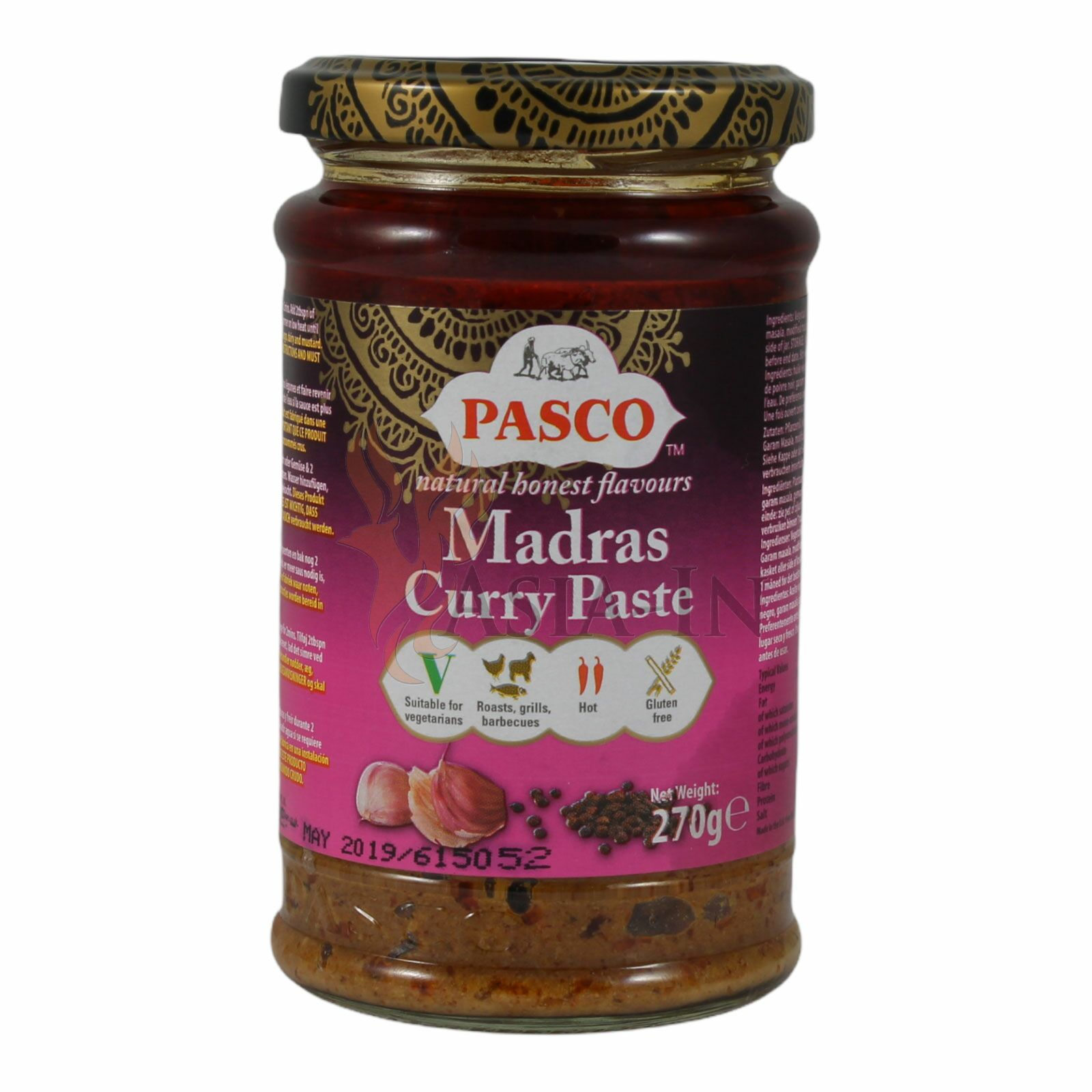 Currypaste Madras Currypaste Pasco 270g