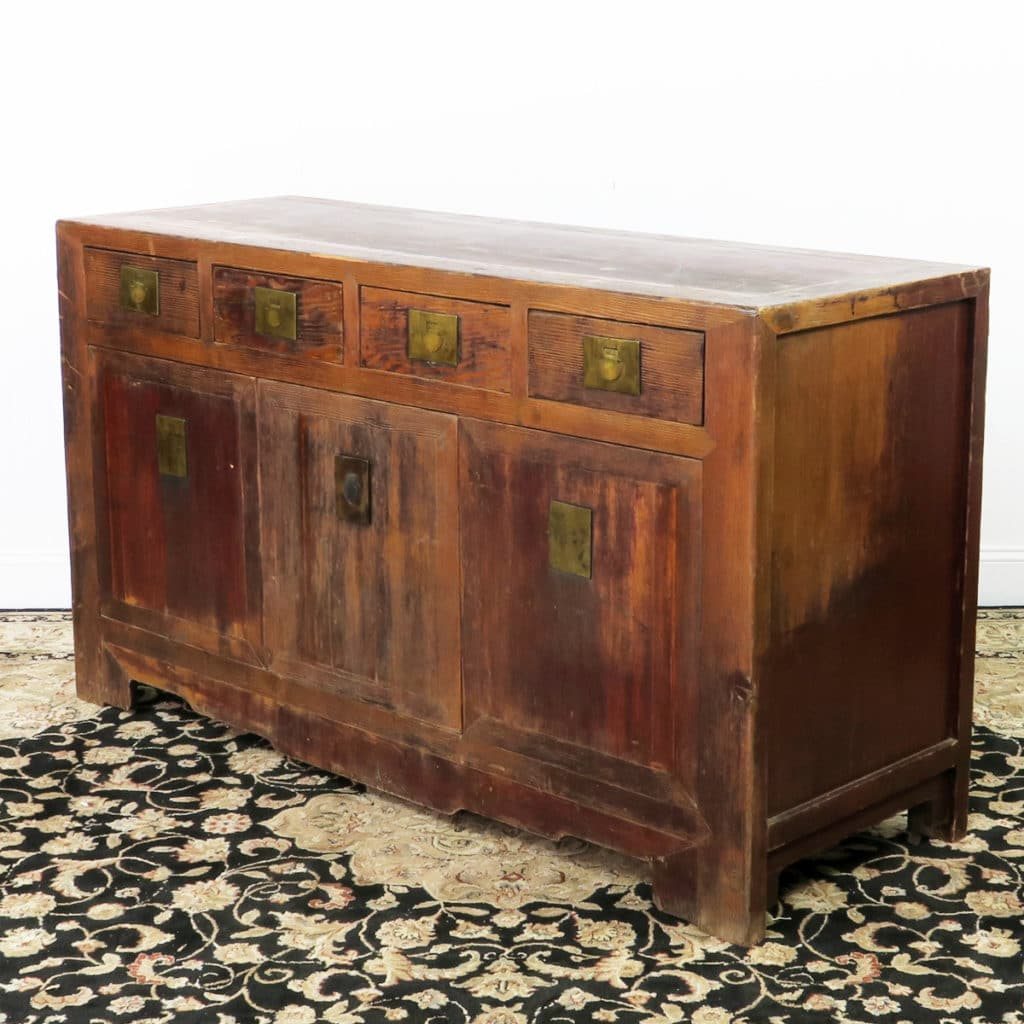 Asia Sideboard Antique Chinese 62 Inch Long Buffet Sideboard Cabinet