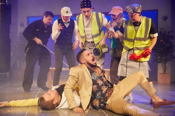 Nicholas Prasad on his role in contemporary 'Mafia' setting for Shakespeare's 'Much Ado About Nothing'