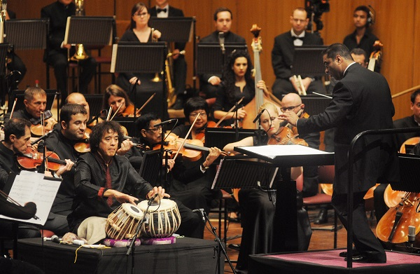 Zakir Hussain, tabla maestro, joins Symphony Orchestra of India on debut UK tour