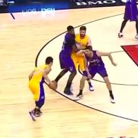 Jeremy Lin - 2015 03 27 Lakers vs Raptors - 18 pts, 6 rebs, 5 ast