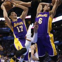 Lakers' Jeremy Lin and Jordan Clarkson team up as NBA's first Asian American starting backcourt
