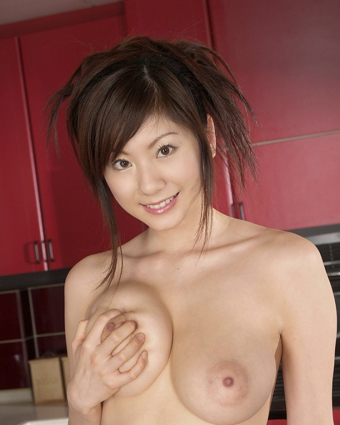 Beautiful asian in stockings with nice big boobs