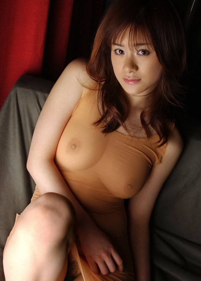 Skinny, yet very naughty Japanese bitch is dreaming about astonishing sex, while laying naked
