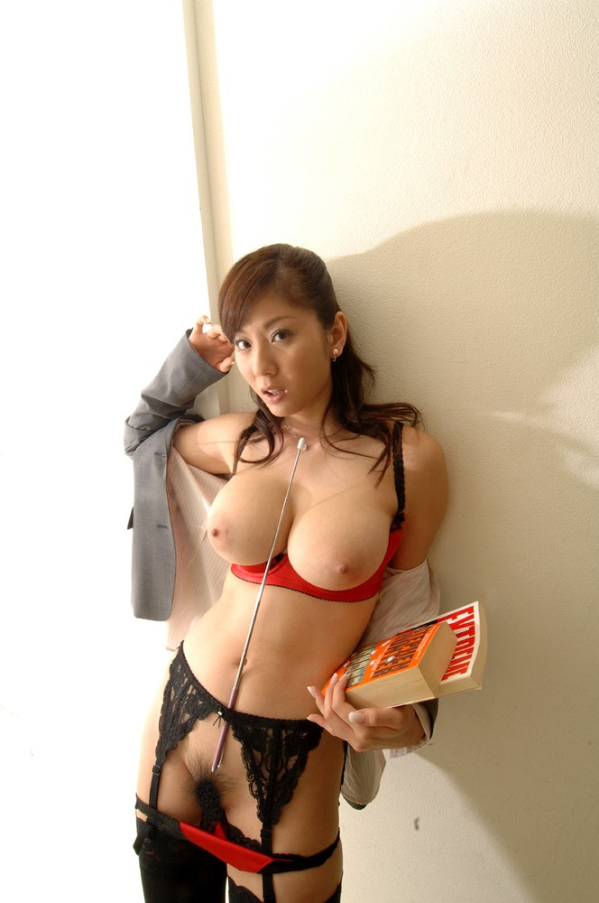 Lovely japanese with nice boobs at home