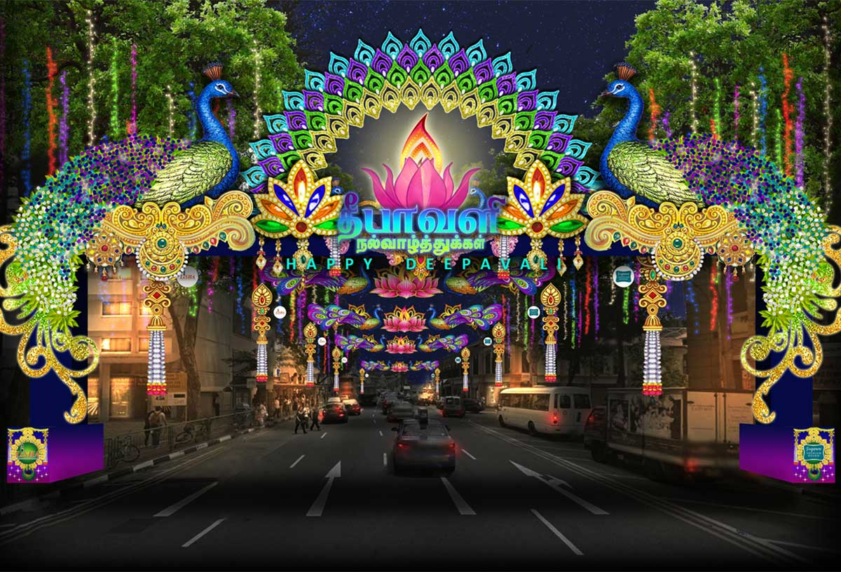 Light Decoration Diwali All Set For Deepavali Light Up Singapore News Asiaone