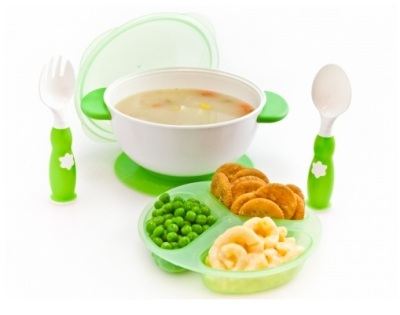 suction bowl feeding green