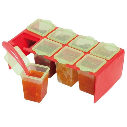 clevaportions freezer storage pots