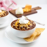 BEST Vegetarian Slowcooker Chili