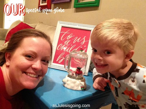 Jamin and Mamma's Special Snow Globe