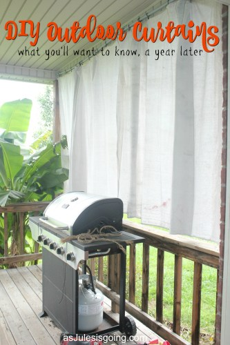 DIY Outdoor Curtains what you'll want to know, a year later