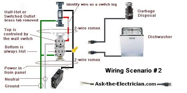 garbage disposal dishwasher wiring diagram