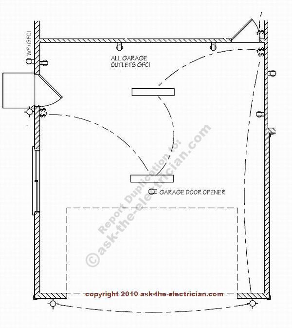 basic garage door light wiring diagrams