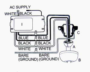 typical ceiling fan wiring diagram
