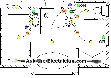 bathroom gfci schematic wiring