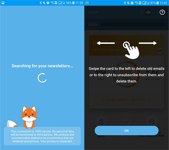 Cleanfox Get rid of the Tinder mailing lists - Ask For Files