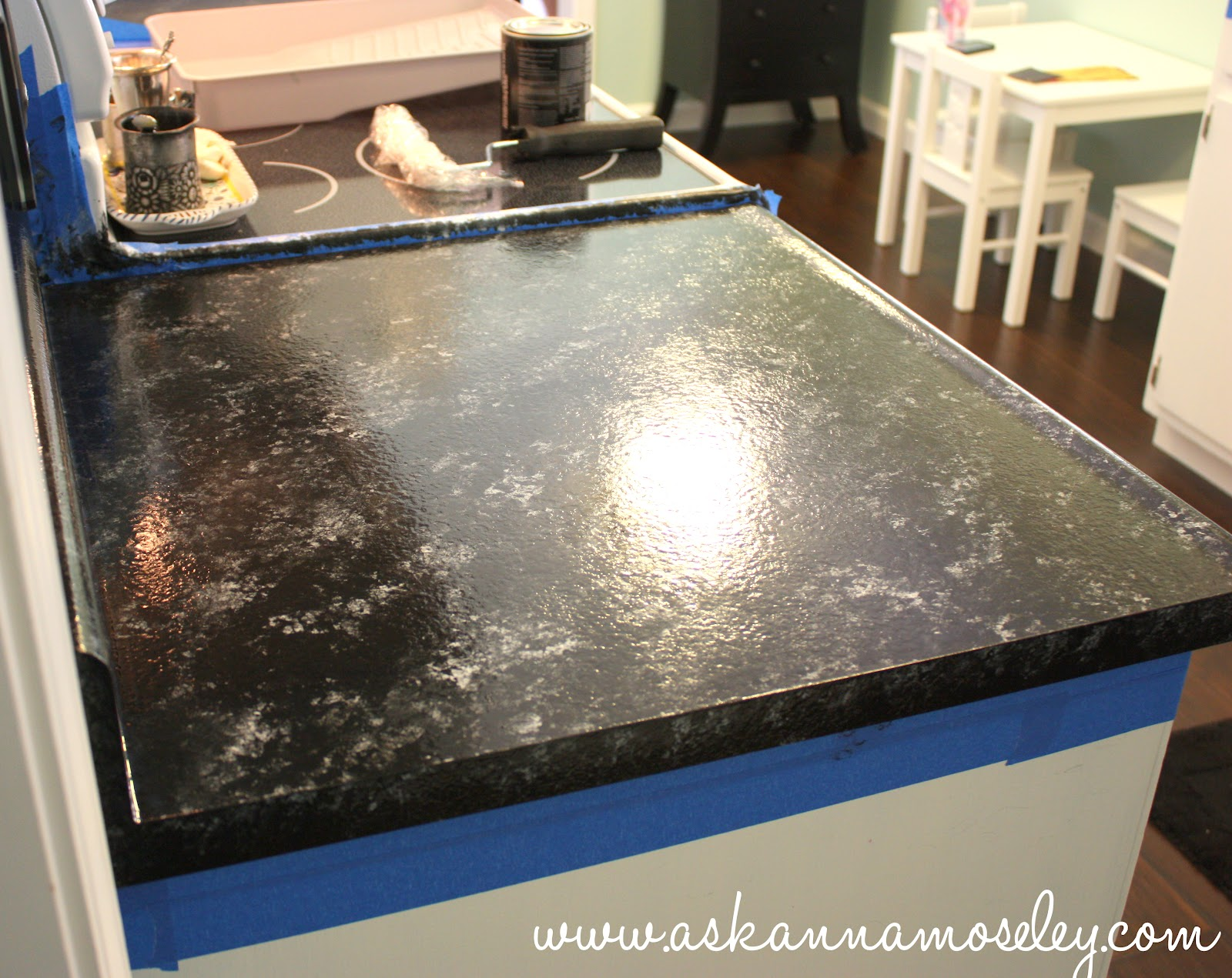 Black Faux Granite Countertops Giani Granite Countertop Paint Review Ask Anna