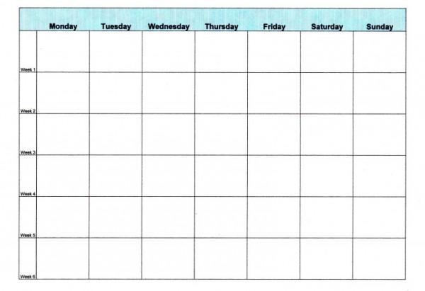 Meal Planning 101 - Ask Anna - meal calendar