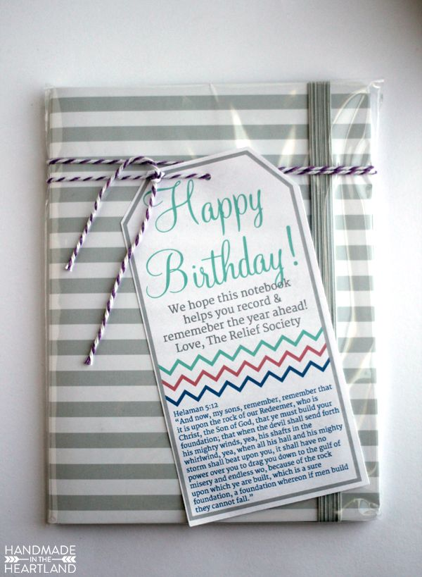 Birthday Gifts Inspiration  Relief Society Birthday Gift with