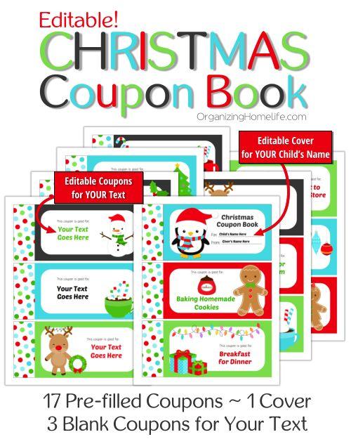Christmas Gifts Ideas  Free Printable Christmas Coupon Book for