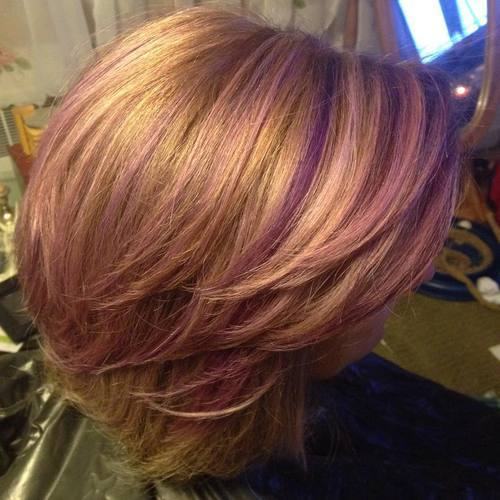 Brown Hair With Highlights Cool Ideas Of Purple Highlights