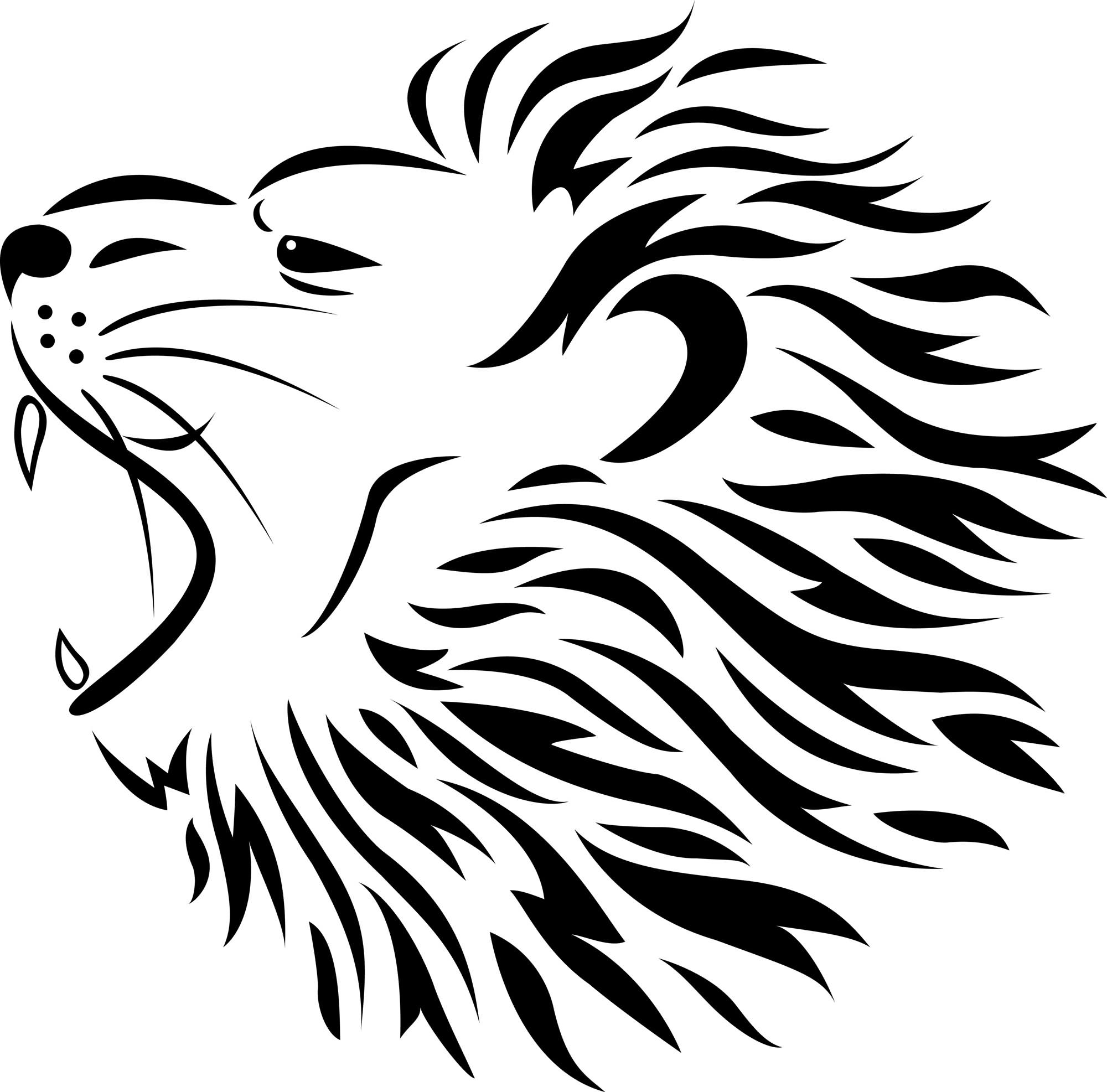 Roaring Lion Clip Art Black And White 82 Famous Lion Tattoo Design And Sketches