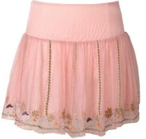 Embroidered Miniskirt