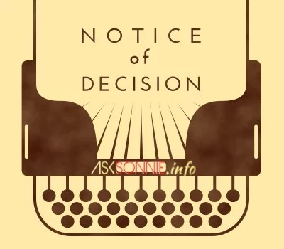 How To Write A Notice Of Decision Memo