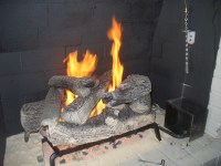 SIZE OF GAS FIREPLACE LOGS  Fireplaces