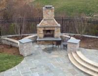 Beautiful Pool with Bluestone Patios and Stone Fireplace ...