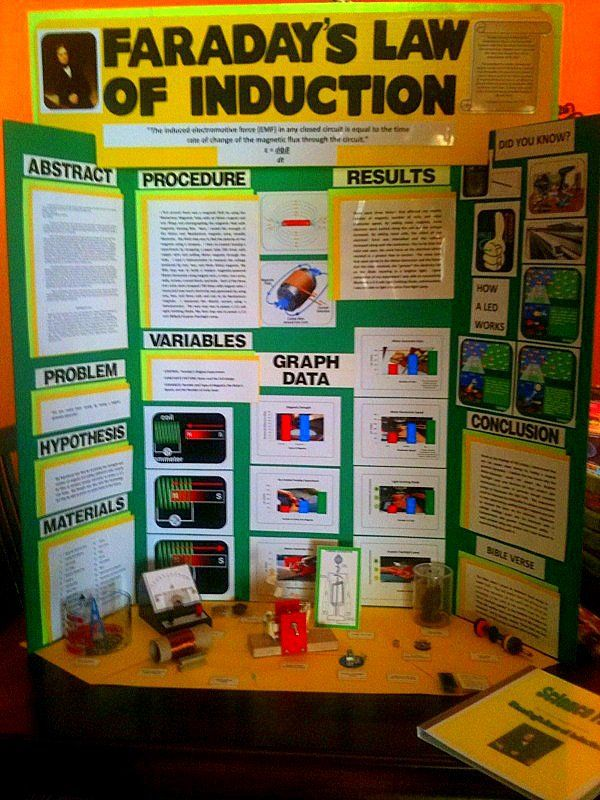 Display Board - ask the science Fair guy - project poster board