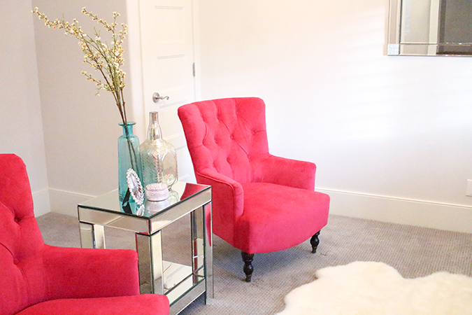 New Fuchsia Chairs in My Living Room! - A Slice of Style - living room chairs for sale
