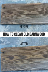 How to Clean Old Barn Wood  a small life