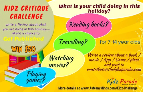Critique (Review) Challenge for kids. Get published.
