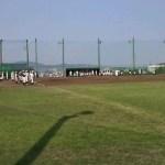小田原相洋の試合前の練習