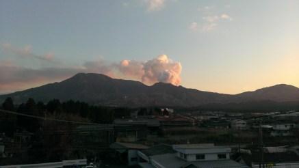 夕暮れの五岳