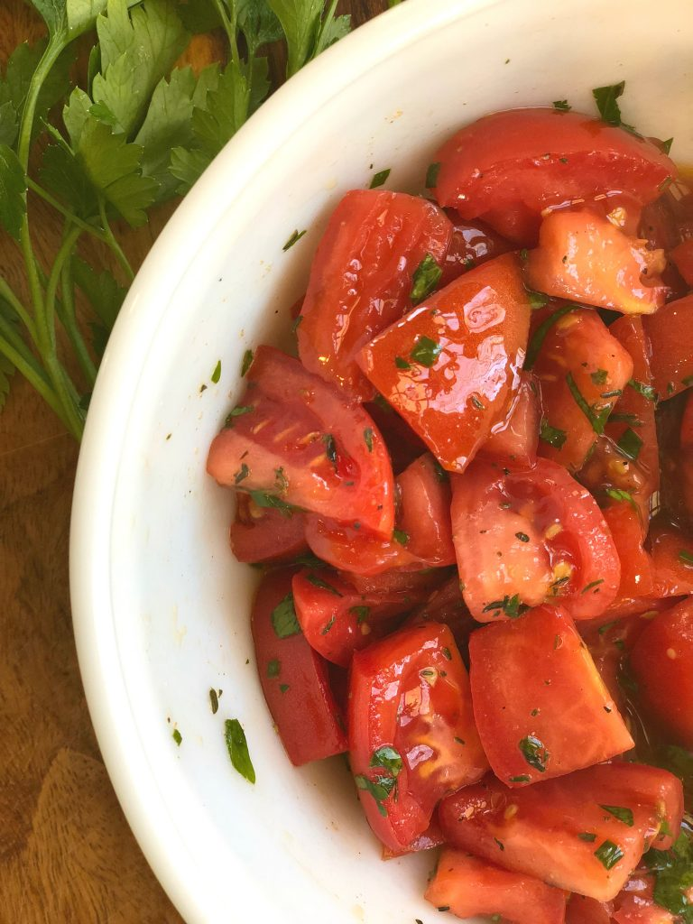 Easy Marinated Tomatoes A Southern Soul