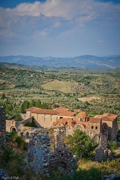 Mystras castle town, Peloponnese, Greece