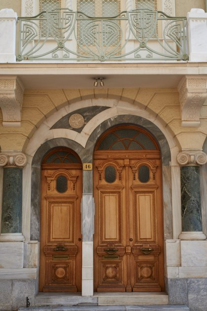 Door in Kolonaki Athens