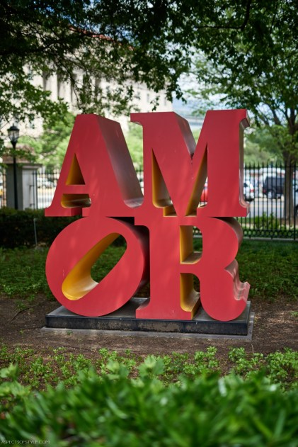 AMOR sclupture by Robert Indiana in Washington, DC