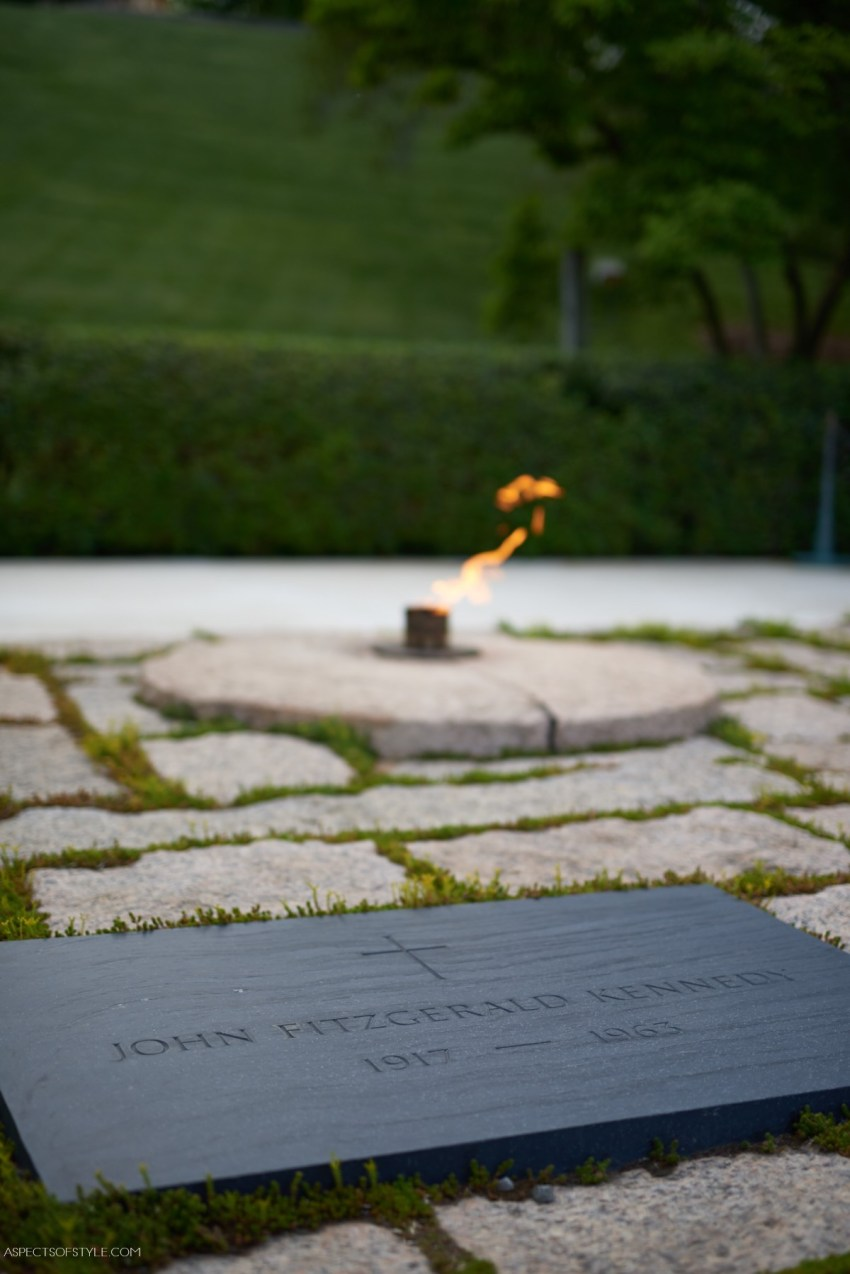 John F. Kennedy tomb at Arlington Cemetery, Washington, DC
