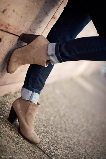 Call it Spring beige suede ankle boots