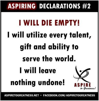 ASPIRING Declarations