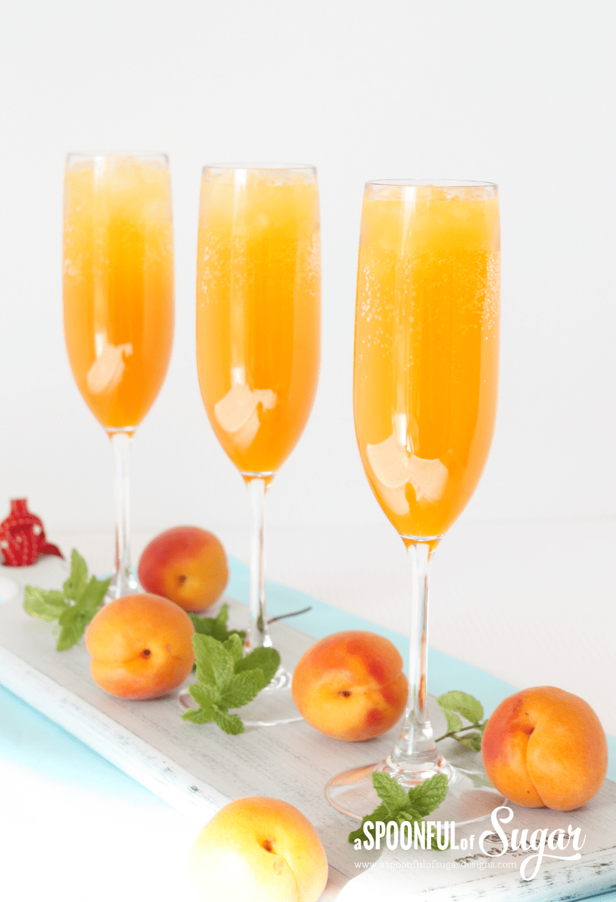 Apricot Bellini - A Spoonful of Sugar