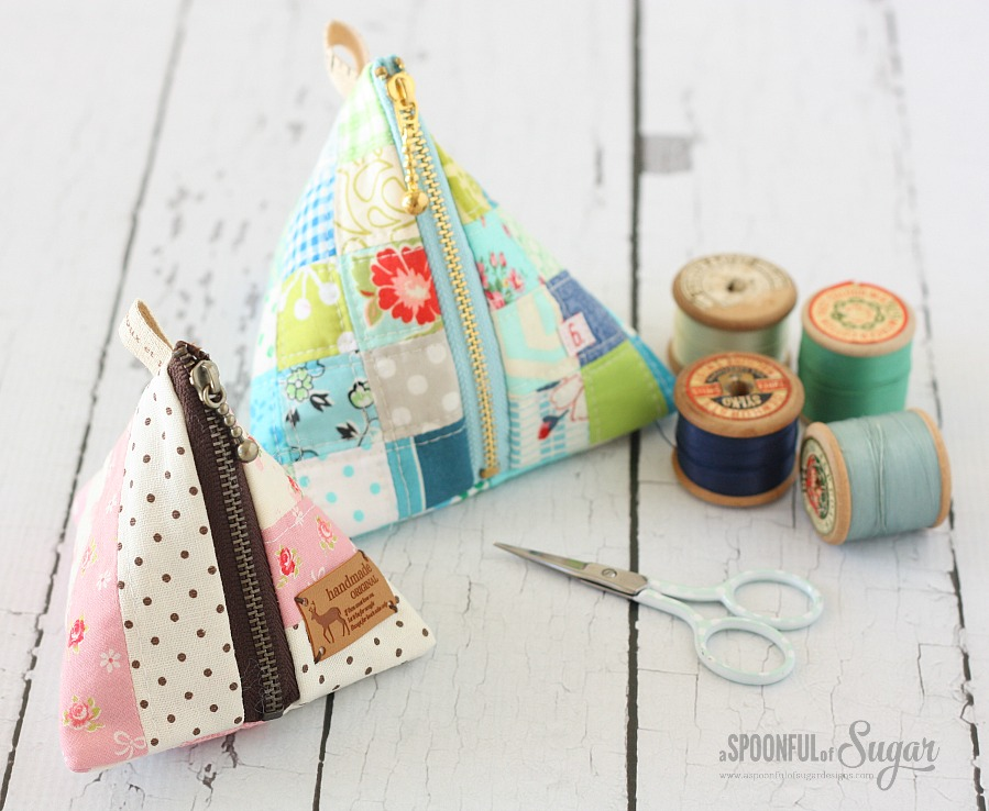 Patchwork Triangle PouchA Spoonful of Sugar