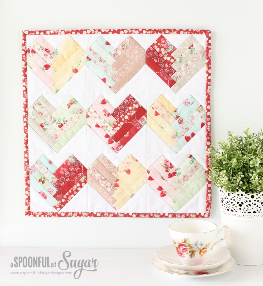 Heart of the Home Mini Quilt by A Spoonful of Sugar , featuring High Tea Fabric