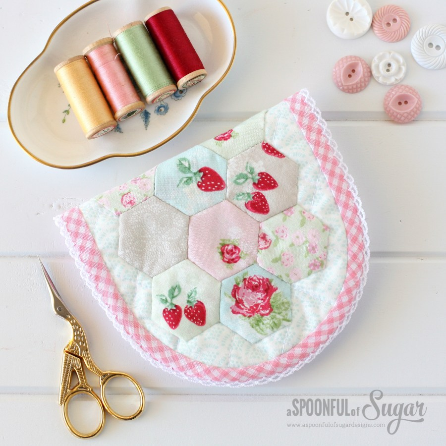 Hexie Sewing Kit Pattern by A Spoonful of Sugar , featuring High Tea Fabric